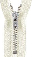 Reißverschluss M40 silber, 0089 weiß