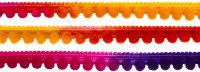 Pompomborte multicolor 10mm