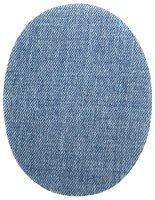 Jeans-Flecken klein  hellblau