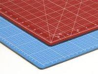 Schneidematte 90x60 blau/rot