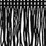 Schnittfranse 70mm schwarz