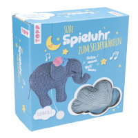 Häkelset Süße Spieluhr Elefant Elli