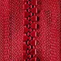 Opti-P60 Jackenreißverschluss rot 0722