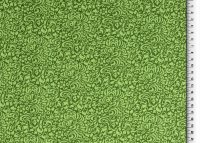 Baumwolle  Organic Blumemuster grün