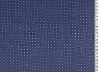 Baumwoll Jersey gepunktet blau/hellblau