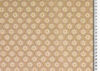 Weihnachten Baumwolle Glitze rgold beige/braun