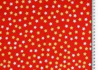 Weihnachten Baumwolle Sterne rot