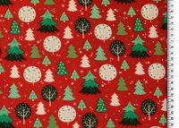 Weihnachten Baumwolle Bäume rot