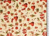 Weihnachten Baumwolle Bilder beige