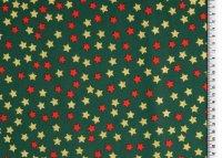 Weihnachten Baumwolle Sterne grün