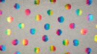 French Terry Multi Foil Print Dots