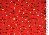 Weihnachten Baumwolle Sternen Girlande rot