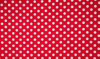 Baumwoll Jersey Dots rot