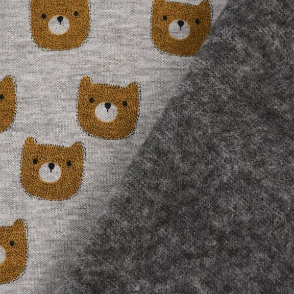 Alpensweat Bär  grau meliert
