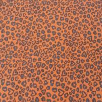 Baumwoll Jersey Leopard Herarts rost
