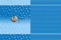 Baumwoll Jersey Wickie Panel blau