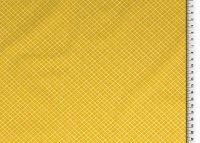 Baumwoll Stoff gelb, Raute