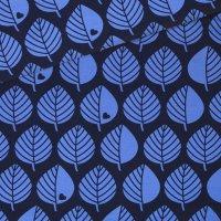 Baumwollsweat große Blätter blau
