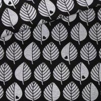 Baumwollsweat große Blätter grau