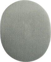 2 Cord-Flecken zum aufbügeln 12x9,5cm hellgrau (002)