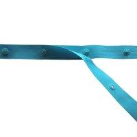 Druckknopfband 50mm Knopfabstand hellblau