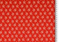 Baumwoll Jersey Druck Blumen, rot