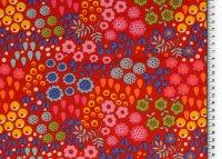 Baumwoll Jersey Druck gemusterte Blumen, bunt