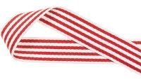 Gurtband gestreift, rot