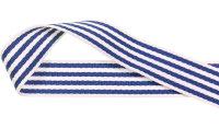 Gurtband getreift, blau
