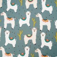 Bio Jersey Alpakas staubgrün