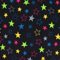 Softshell Sterne schwarz