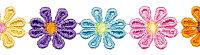 Spachtelspitze Blumen bunt 24mm