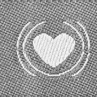 "Webband ""Handmade with Love"" grau"
